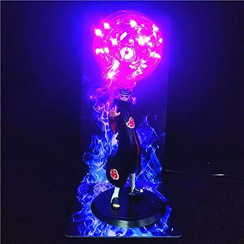 Lámpara de ilusión 3D Anime Naruto Akatsuki Pain Figura Luz al lado de la lámpara Luces de noche LED creativas Lámpara de escritorio Modelo Juguetes Figura Estatua Decoración de la habitación