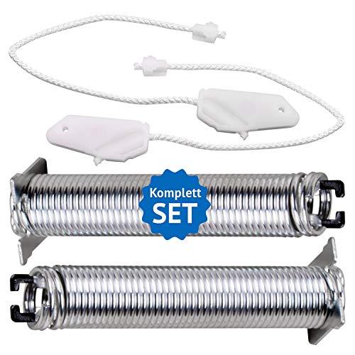 Türfeder Reparatursatz mit Seilzügen Ersatz für Siemens Bosch Neff Constructa Geschirrspüler 00754869 Türscharnierfedern 2xFeder Scharnier Reparaturset für Spülmaschine Silence Plus IQ300
