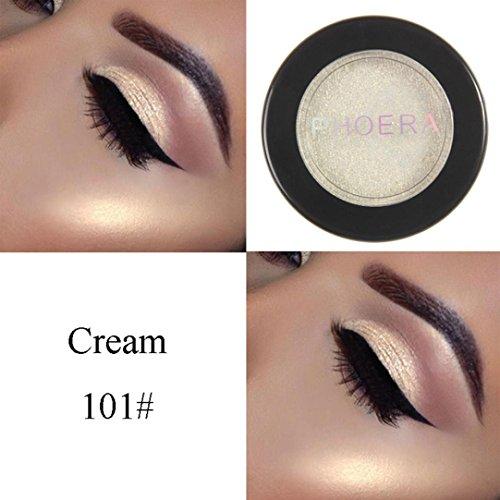 Coloré(TM) Palettes de maquillage Paillettes Poudre Ombre PHOERA Glitter Shimmering Couleurs Fard à paupières Metallic Eye Cosmetic (A)