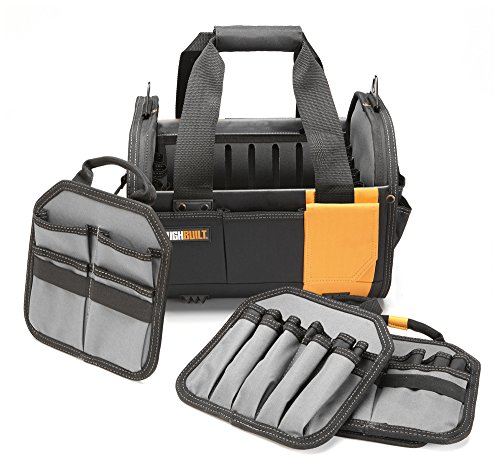 ToughBuilt  12quot Modular Tote Tool Bag | 61 Pockets and Loops Electrical/Maintenance Tool Carrier Durable Padded Handle 3 Removable Pocket Dividers Storage Organizer/Tool Box  TB8112