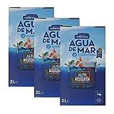 Mediterranea - Agua de Mar para consumo alimentario en Pack Ahorro de 3 Box de 2 Litros (Total 6...