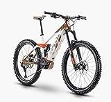 Husqvarna Hard Cross 8 Shimano Steps Fullsuspension Elektro Mountain Bike 2020 (46cm, Bronze/White/Red)