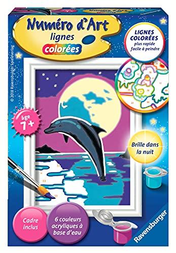 Ravensburger – Numéro d'art mini format – Clair de lune – loisir créatif – kit de peinture acrylique – activite détente – enfant dès 7 ans – 29614