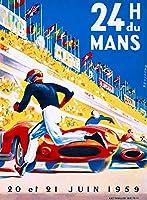 ERZAN壁の装飾牌1959-24時間ルマンフランス自動車レース広告広告ビンテージ金属のブリキ看板20x30cm