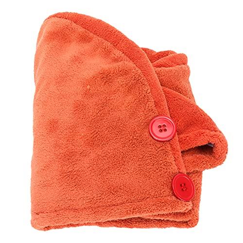 FOLOSAFENAR Toalla para el Cabello Que no se decolora Sombrero para secar el Cabello Lavable Agradable para la Piel Fácil de Usar para Viajar al Gimnasio