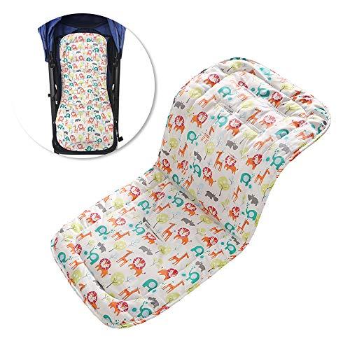 Kinderwagen kussen/auto autostoel pad/hoge stoel zitkussen liner mat pad cover ademend dubbelzijdig te gebruiken (gekleurd dier)