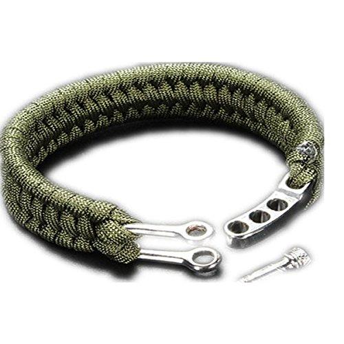 Inovey 7 Strands Paracord Bracelet String Cordon Anneau À Main Avec Quick Release Shackle Buckle For Survival -Green