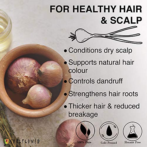 Soulflower Onion Hair Oil for Hair Growth and Hair Fall Control