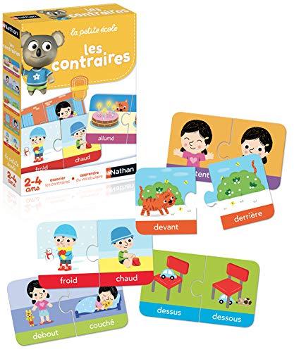 Nathan - Les contraires - jeu éducatif de 2 à 4 ans pour s'initier à l'association des contraires