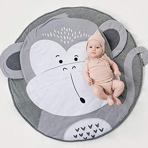 Review Of PYXZQW Baby Round Crawling Mats Game Blanket Floor Mats Kid Photograph Background Nursery ...