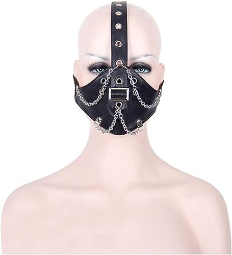 liquidación hasta el 70% Peggy Gu Cool Chain Chain Chain Design Motocycle Anti Polvo máscara Media Cara gótica Steampunk Biker hombres Cosplay Viento Fresco Punk máscara de la Mascarada de Halloween  mejor vendido