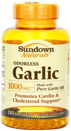 Sundown Tulsa Mall Naturals Odorless Garlic 1000mg Cheap super special price 250 Softgels Count Pac