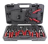 KS Tools 115.1055 Serie di Pinze per Fascette Stringitubi Autovetture, 7 Pezzi, in Valigetta di Plastica