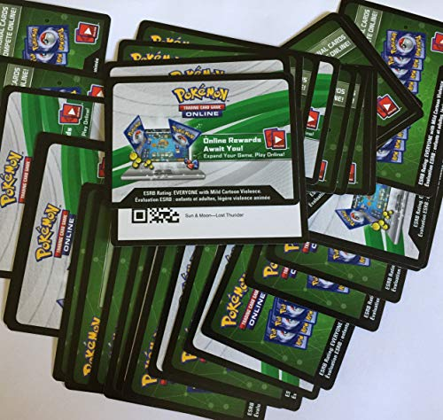 36 Pokemon Online Sun & Moon Lost Thunder Codes - Not Played - by Email or Text Only