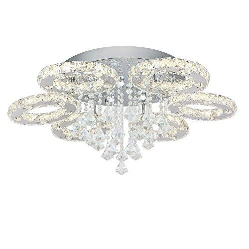 SAILUN® 88W LED Warmweiß Deckenleuchte 6-flammig Kristall Deckenlampe Flur Wohnzimmer Lampe Schlafzimmer Küche Energie Sparen Licht Wandleuchte (88W Warmweiß)