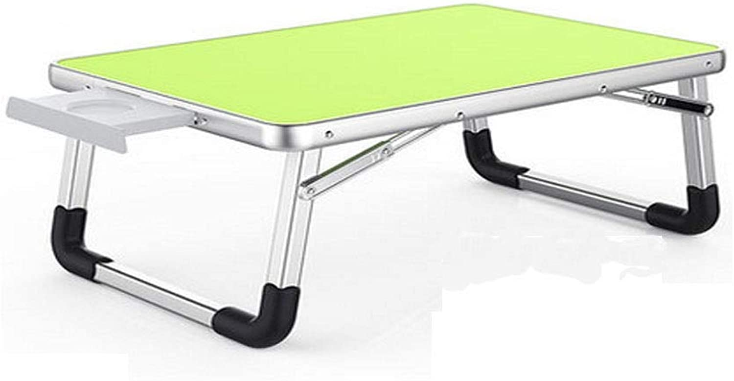 Table and Chairs, Folding Tables and Chairs, Multi-Functional Aluminum Folding Table, Compact and Lightweight, Load, Environmentally Friendly and Tasteless (color   Pink, Size   70  50  32cm)