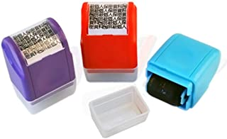 DishyKooker Roller Stamp Guard Mini Portable Wide Roller Identity Theft Prevention Security Stamp Garbled Smear and Concea...