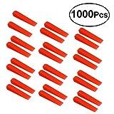 UKCOCO 1000 pezzi Cunei rossi Anti lippage Sistema di livellamento per piastrelle Cunei St...