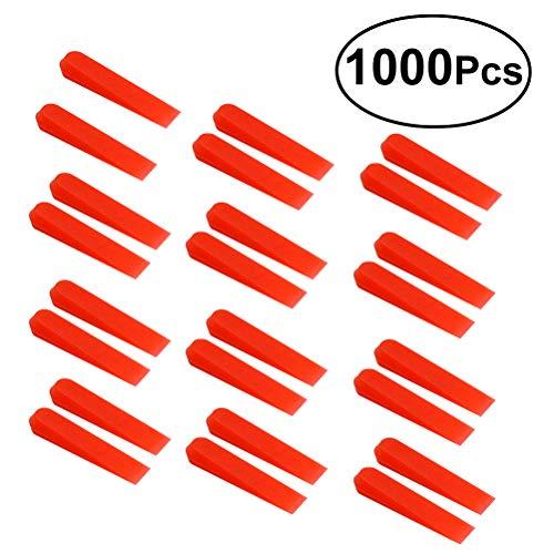 Yardwe 1000 STÜCKE Professionelle Anti lippage Fliesen Nivellierung Keile Rote Kleine Wand Bodenfliese Nivellierung System