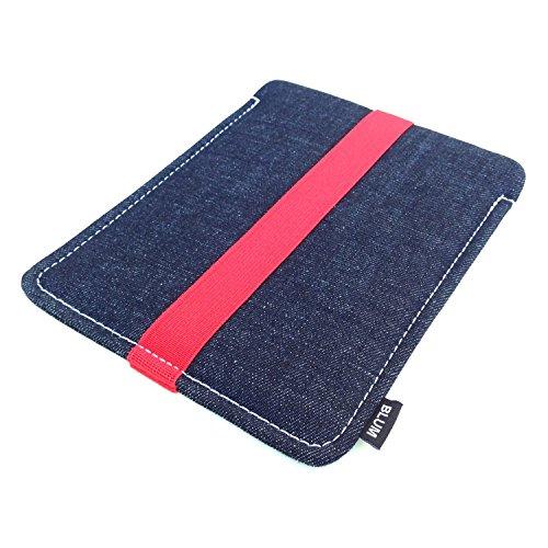 "Blum - Jeans Hülle für Apple iPad 5 | iPad Pro 9,7"" | iPad Air 2 | iPad Air - Schlaufe in rot - SmartCover kompatibel"