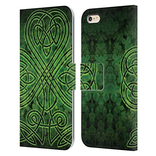 Head Case Designs Officially Licensed Brigid Ashwood Irish Shamrock Celtic Wisdom 3 Leather Book Wallet Case Cover Compatible with Apple iPhone 6 Plus/iPhone 6s Plus