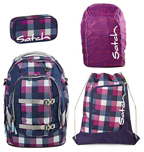 Satch Schulrucksack-Set 4-TLG Pack Berry Carry Lila