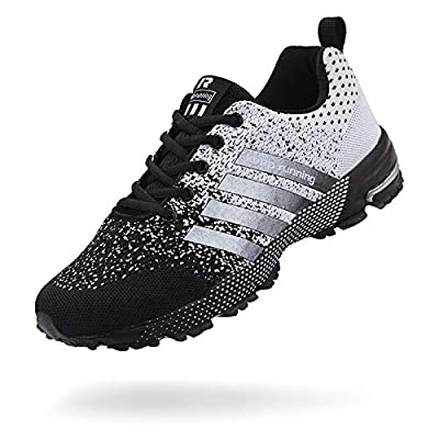 Save 55% on the Moligin Mens Running Shoes Fashion Sneakers Lace Up for Casual Fitness Walking Jogging Footwear