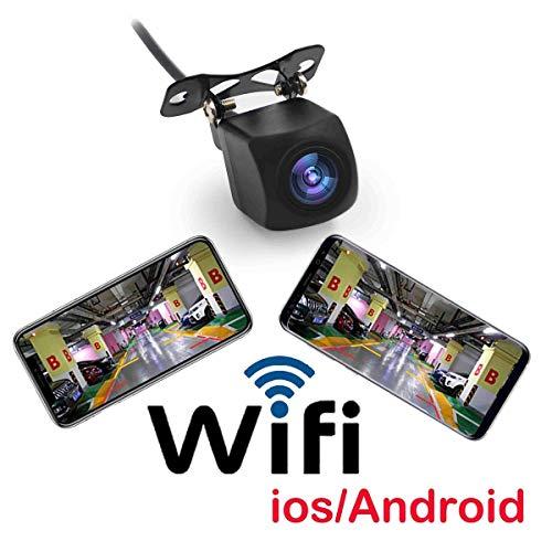 WiFi, das Backup-Weitwinkelkamera aufhebt, Dash Cam Nachtsicht Rückfahrkamera kompatibel mit iPhone und Android für Transporter, Lkw, Campingwagen, Wohnmobile