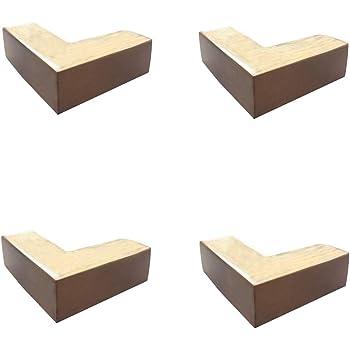 HRD Patas de Muebles de Madera Maciza, en Forma de L, Patas de sofá para Mesa de café, Patas de Cama para Mueble de TV, una Variedad de Colores, 5 cm: Amazon.es: