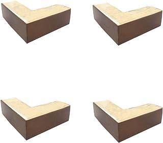 HRD Patas de Muebles de Madera Maciza, en Forma de L, Patas de sofá para Mesa de café, Patas de Cama para Mueble de TV, una Variedad de Colores, 5 cm