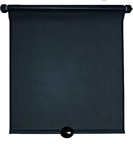 Kaufmann AZ-SAA-120 - Parasoles enrollables para ventanillas de Coche (2 Unidades), Color Negro