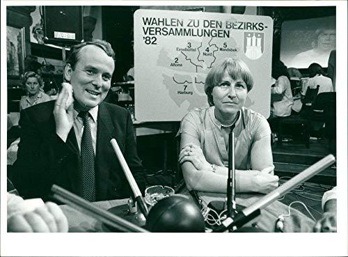 Helmut Parschau & Helga Schuchardt - Vintage Press Photo
