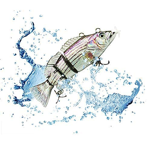 UFISH, 3.5' Robotic Swimming Fishing Lure - Self-Swimming Electronic...