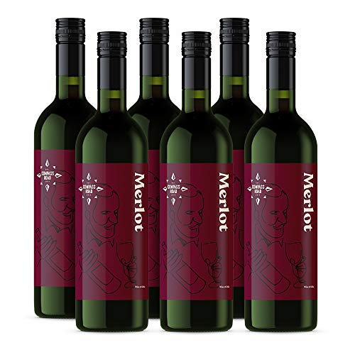 Amazon-Marke - Compass Road Rotwein Merlot, Chile (6x0,75L)
