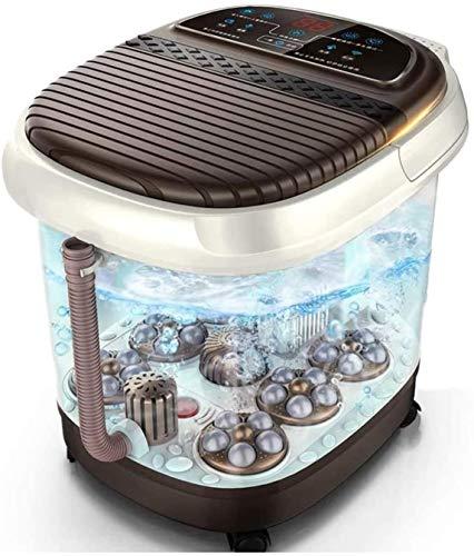 CX Modern Simplicity Foot Bañera de Pie Bañera Automática Masaje Eléctrico Calefacción Pedicura Hogar Máquina Termostático Pie Massager Pie Bath Barrel Masajeador