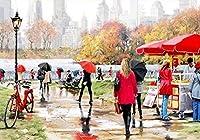 数字によるDIY油絵キットクラフトDIYペイントオンキャンバスクラフト大人の子供のための使いやすさ初心者の街の眺め