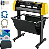 """VEVOR Vinyl Cutter Machine, 870mm Cutting Plotter, Automatic Camera Contour Cutting 34"""" Plotter Printer with Floor Stand Vinyl Cutting Machine Adjustable Force and Speed for Sign Making Plotter Cutter"""