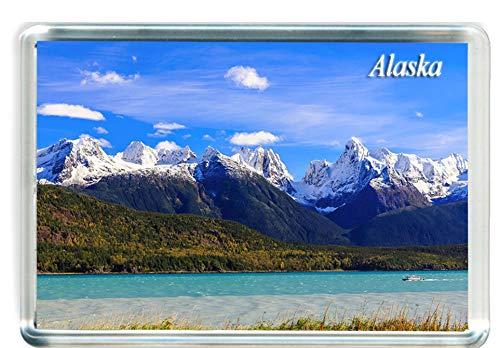 I100 Alaska Imán para Nevera Alaska Travel Fridge Magnet