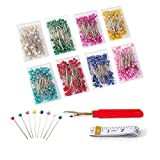 Sewing Pins – 800 PCS Peal Needles, Straight Quilting Pins for Dressmaking, Jewelry, Sewing Projects, with Sewing Seam Ripper and Soft Tape (Pearl Ball Heads Pins)