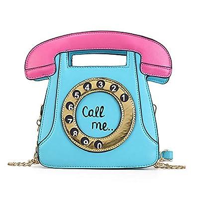 Freie Liebe Telephone Shaped Purse Crossbody Bags Girl Retro Messenger Shoulder Handbags for Women