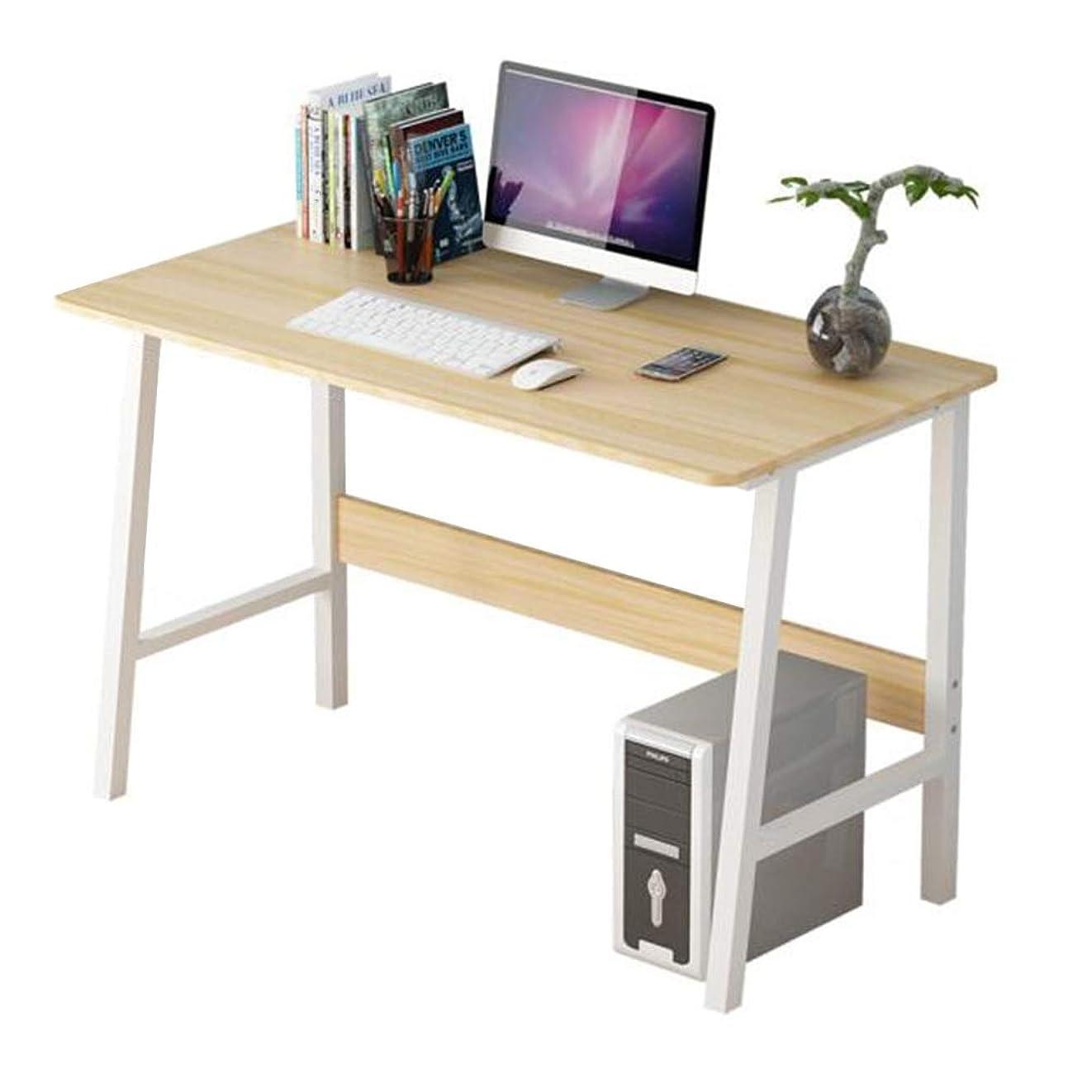 おもしろい達成口コンピュータデスク ホーム オフィステーブル テーブル 木製 スタディデスク パソコン ワークステーション W120×D55×H73cm CJC (色 : Wooden color)