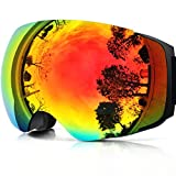 ZIONOR X4 Ski Snowboard Snow Goggles Magnet Dual Layers Lens Spherical...