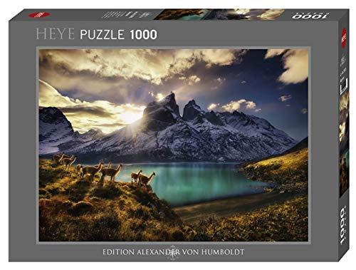 Heye 29815Guanacos estándar 1000Piezas, Alexander Von Humboldt, Juego