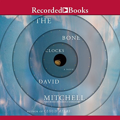 The Bone Clocks                   Auteur(s):                                                                                                                                 David Mitchell                               Narrateur(s):                                                                                                                                 Jessica Ball,                                                                                        Leon Williams,                                                                                        Colin Mace,                   Autres                 Durée: 24 h et 30 min     17 évaluations     Au global 4,2