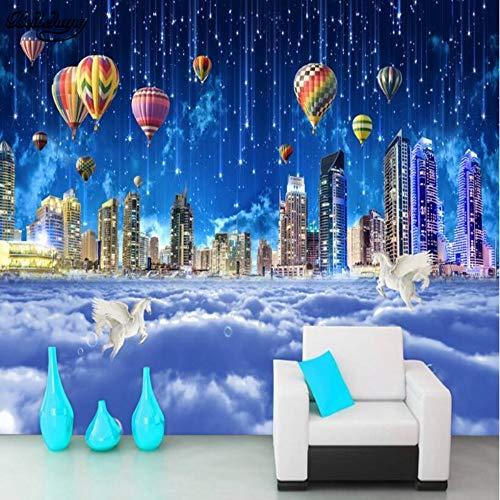 Grote aangepaste dromen Star City Sky Sea Sky City Tv Woonkamer Slaapkamer Achtergrond Home Decoratie 400 x 280 cm.