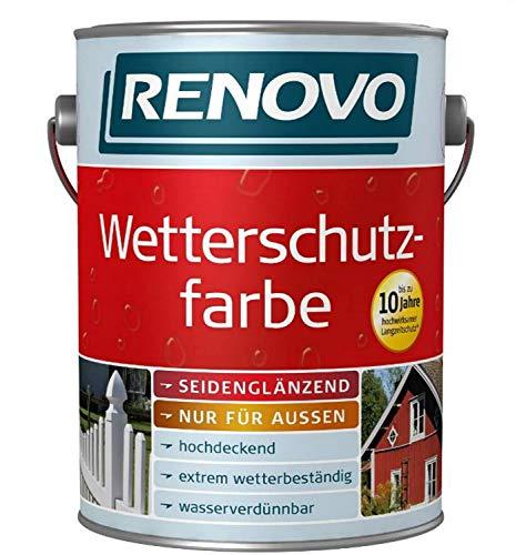 2,5 Liter Wetterschutzfarbe Lichtgrau Nr.7035 RENOVO bis 10 Jahre Langzeitschutz