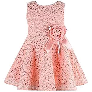 Girls Princess Dress, Transer® Baby Floral Dress 0-5 Years Girls Clothes for Kids Christmas Party Dress with Flowers Decorated Sleeveless Swing Dresses Princess Tulle Dress (1-2 Years, Pink)