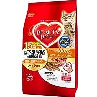 (まとめ買い)ビューティープロ キャット 猫下部尿路の健康維持 15歳以上 1.4kg 猫用 キャットフード 【×4】