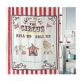 Spirella Anti-Schimmel Duschvorhang Zirkus Anti-Bakteriell, waschbar, wasserdicht Polyester 180x200cm
