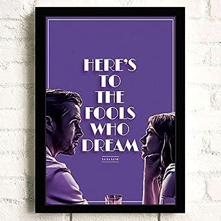 La La Land Movie Ryan Gosling Emma Stone Poster Prints Wall Art Decor Unframed,16.5
